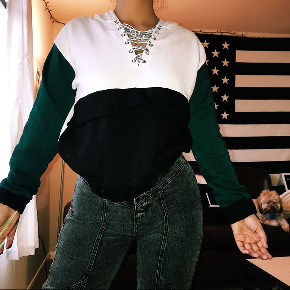 Forever 21 Sweaters - Women's color block hoodie